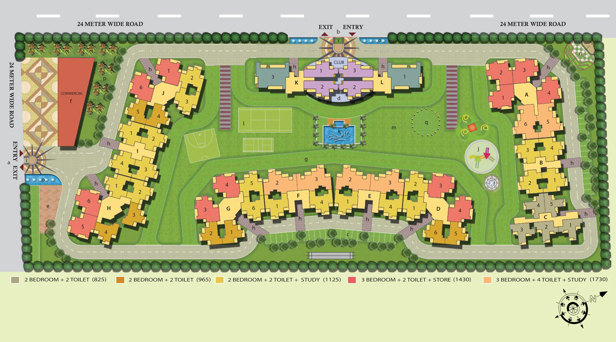 French Apartments Site Plan